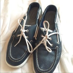 Navy Sperry Top-sider Boat Shoes