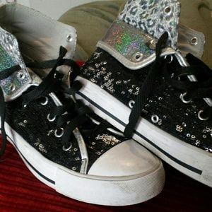 Gotta Flurt Shoes - Gotta flurt High top sequenced sneakers
