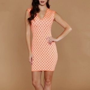 WOW couture Dresses & Skirts - WOW Couture Coral & White Dress