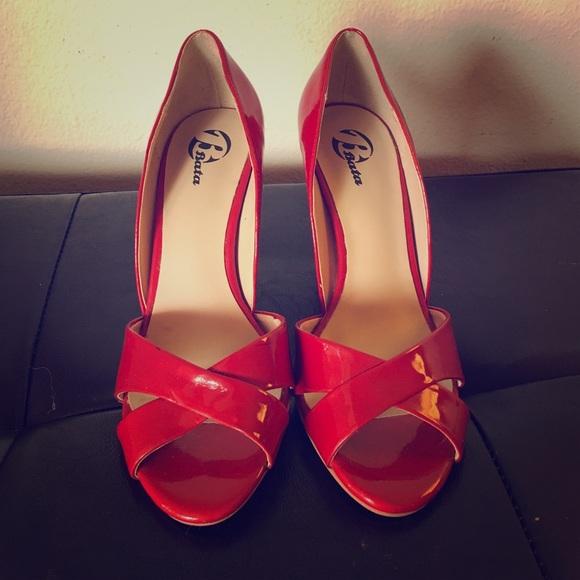 Bata Shoes | Bata Peep Toe Red Patent
