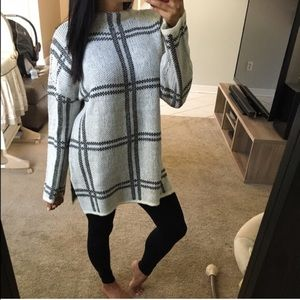 Sweaters - Plaid oversized jumper