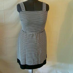 ASHLEY STEWART STRIPE BLACK/WHITE DRESS
