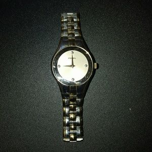 Gold and silver Mens fossil watch
