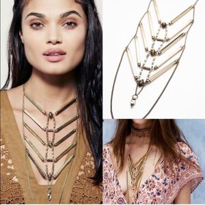Free People Jewelry - NWT free people Gold Coast tigers eye  necklace