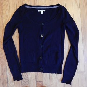 Black Aeropostale Cardigan Sweater Sz Small