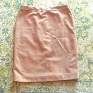 Camel J. Crew Wool Pencil Skirt