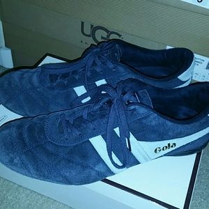 Gola Shoes - Gola women blue suede shoes