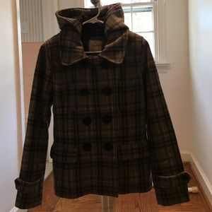 Heritage Other - Grey Plaid Heritage Wool Coat
