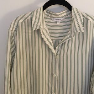 & Other Stories Striped Oversized Silk Button Down