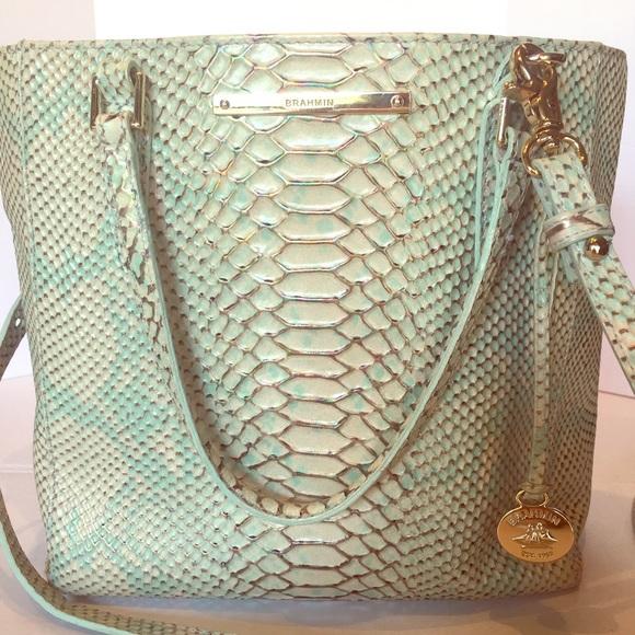 8d84e66521 Brahmin Handbags - Brahmin Harrison Opal Seville Snake Leather Bag