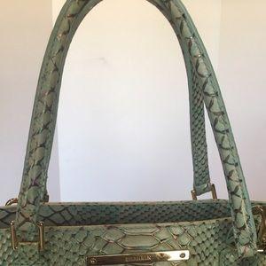 0618cd3894 Brahmin Bags - Brahmin Harrison Opal Seville Snake Leather Bag