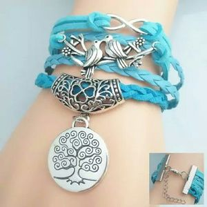 Jewelry - Chic Birds Tree Pattern Weaved Friendship Bracelet