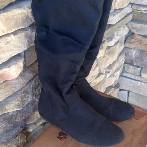 Rampage Shoes - Black microfiber boots size 8 1/2 rampage brand