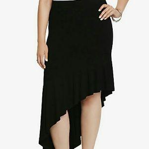 torrid Dresses & Skirts - TORRID BLACK ASYMMETRICAL RUFFLE SKIRT