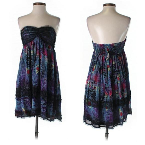 Incitar gravedad motivo  Steve Madden Dresses | Peacock Print Dress | Poshmark