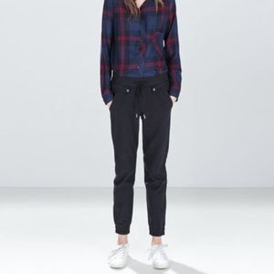 Zara TRF skinny joggers with ankle zippers