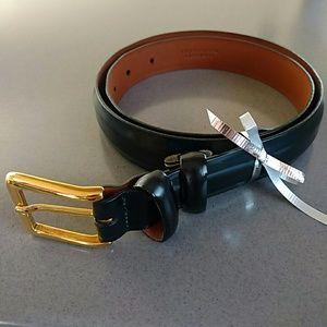 """Cole Haan Accessories - COLE HAAN Black 32"""" Leather Belt, NEVER WORN"""