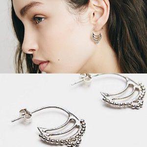 NWOT free people ono Hindi earrings sterling