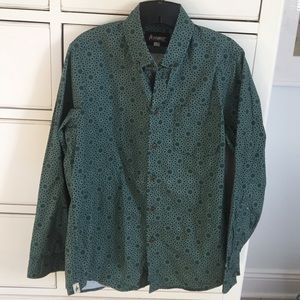 Altamont Other - Green print button down