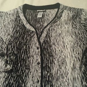 Catherines Tops - Black and White Tunic Size 3x