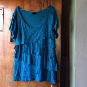 Torrid Layered Ruffle Shirt
