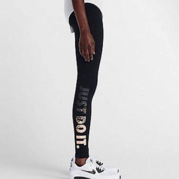 6b711095502e5 NWT Nike Metallic just do it leggings black gold. M_582784e278b31ce75c0430e7