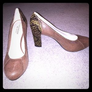 Naturalizer Shoes - NWOT Naturalizer Snakeskin Print Heeled Pumps