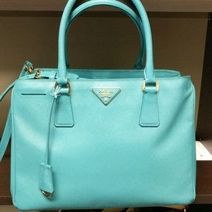 Prada Handbags - Prada saffiano teal purse