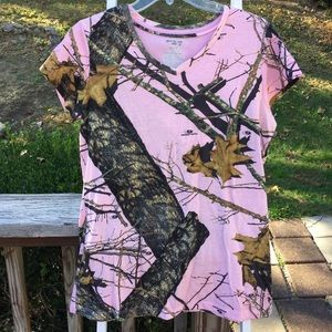 MOSSY OAK Pink & Camo fitted shirt