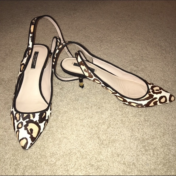 3f7ee44d75d Zara Leopard Print Slingbacks With Kitten Heel. M 5827890c2ba50a91e0043f27.  Other Shoes you may like. Zara suede high heels