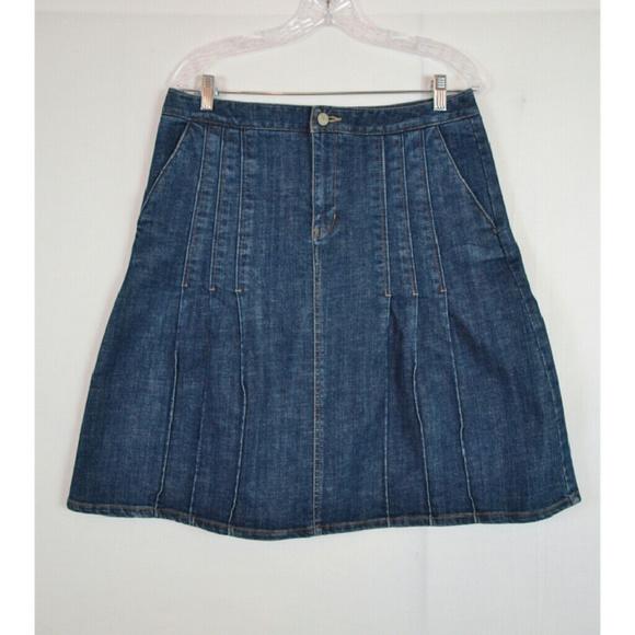 eddie bauer eddie bauer pleated jean skirt size 10 from