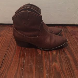 Unlisted Shoes - Brown cowboy booties