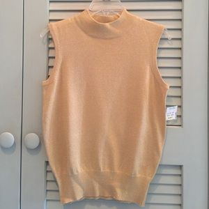 Tops - Gold sparkle holiday top