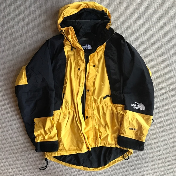 0ef7c3738 NORTH FACE Yellow Black Gore-Tex Shell S M