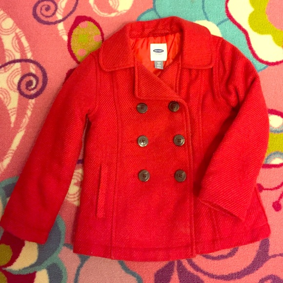 61% off Old Navy Other - Girls Red Pea Coat ?Old Navy xs (5