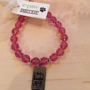 Emily Ray Jewelry - Emily Ray Pet Collar Pink Crystals Sterling