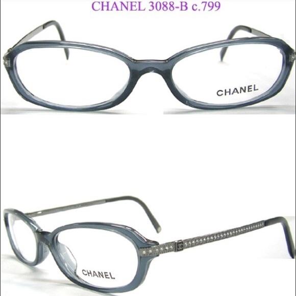 Chanel Accessories New Cc Eyeglass Frames With Rhinestones Poshmark
