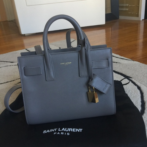 c08e10513c Saint Laurent Sac de Jour Nano - Fog Gray