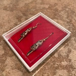 Kit Cat Jewelry - NIB Kit-Cat Clock enamel earrings - hinged tail!