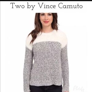 Two by Vince Camuto Sweaters - Two By Vince Camuto Fuzzy Eyelash Sweater Top New