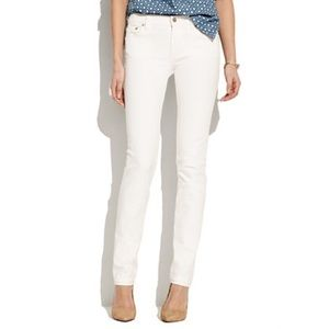 Madewell Denim - Madewell Rail Straight White Jeans