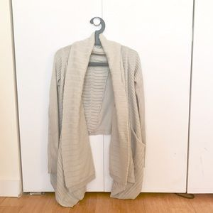 Sweaters - Long Thick Drapery Cardigan