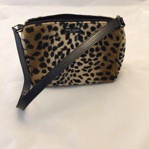 kate spade Handbags - Kate Spade Fuzzy Leopard Print Purse  👛