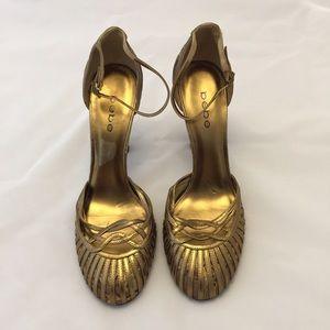 BeBe Gold Brown & Tan Dress Shoes Size 9.5