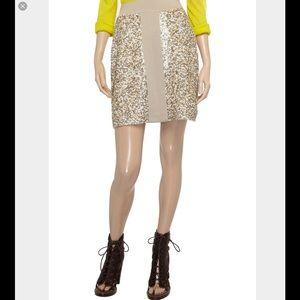 Pringle Dresses & Skirts - Pringle of Scotland Beige Sequin Top & Skirt