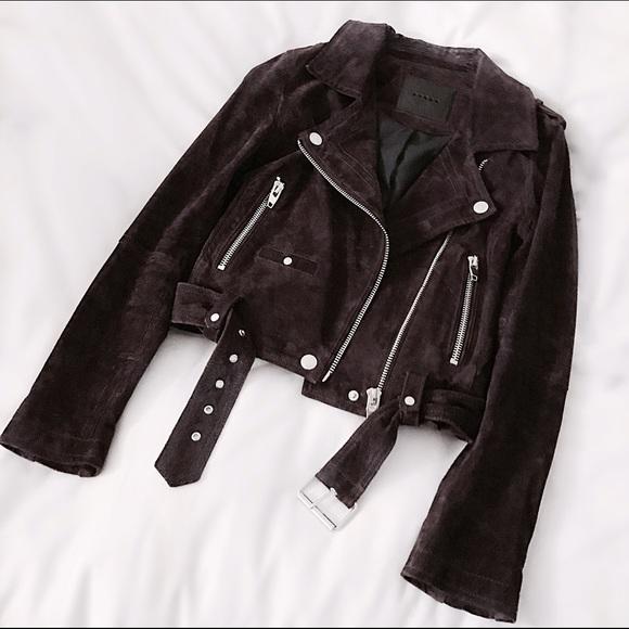FINAL FLASH- BLANKNYC Burgundy Suede Moto Jacket