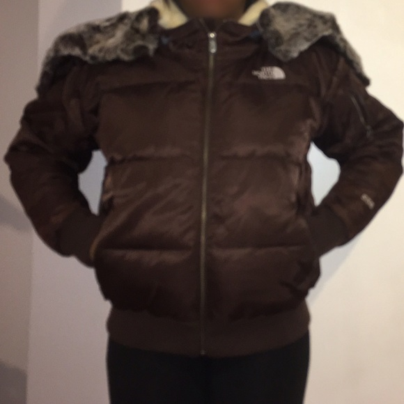 c86ad8574 The North Face 550 Brown Bomber Jacket Medium