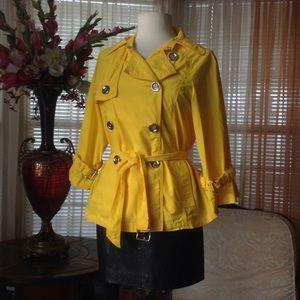 Michael Kors Jackets & Blazers - Michael Kors gold yellow trench jacket