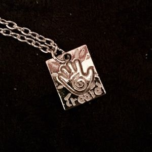 NEW Silver 'Create' Inspirational Necklace