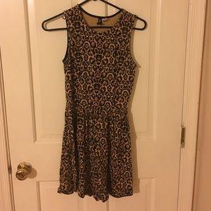 H&M Leopard Print Skater Dress